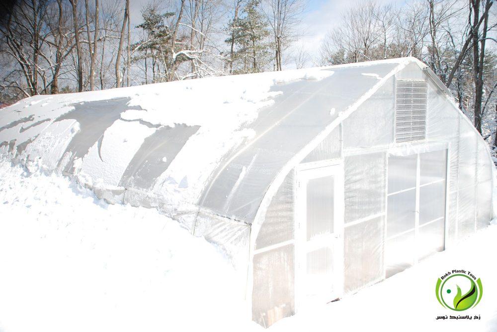 عکس گلخانه در زمستان